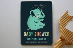 Baby Elephant Baby Shower Invitations by Pistols at minted.com #SocialCircus
