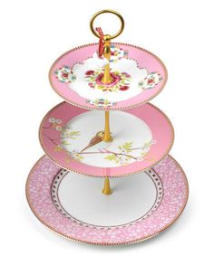 This Pink Tiered Cake Stand is perfect! #zulilyfinds