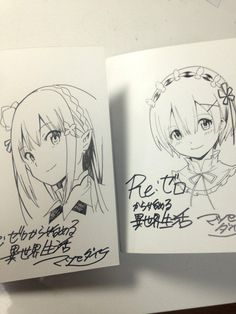 #Re:zero Starting Life in Another World #Re:zero kara Hajimeru Isekai Seikatsu dédicace Rem Emilia #Anime #Manga