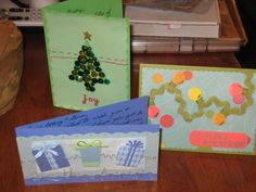 Christmas cards I made in 2009 (in some cases I cannot claim these ideas as original, though I'm not sure the sources)