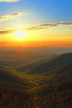 Sunrise at Mt Pisgah, Blue Ridge Mountains of North Carolina. This is the view Julia, Gabriel, Blake, Mia, and James might have seen when they reached the summit. And we all know what happened then!