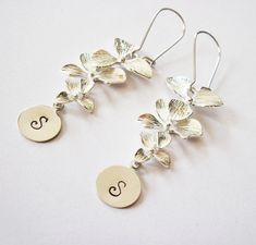 Personalized Orchid Earrings - personalized earrings by RobertaValle, $16.00