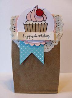Hey Cupcake DIY Birthday Card and Gift Bag