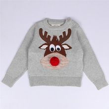 Hot Sale Winter Christmas Gift Deer Sweater Boys Girls Knit Sweaters Long sleeve clothes Kids coat Pullover for 1-5 Years(China (Mainland))