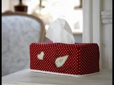 Little Bird tissue box cover instructions by Debbie Shore - YouTube