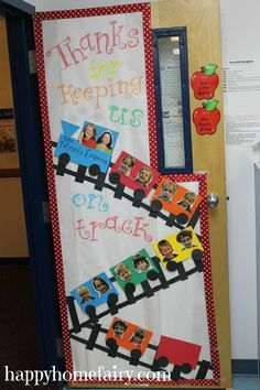 back to school classroom door decorations | Posted in Teacher Appreciation Ideas by Happy Home Fairy