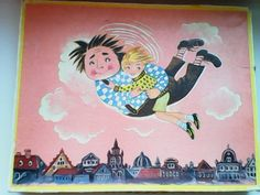 Малыш и Карлсон, 1978. Настольные игры СССР - http://samoe-vazhnoe.blogspot.ru/ #игры_сказки