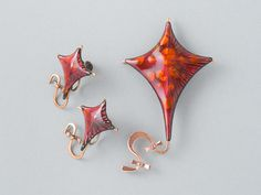 Matisse Renoir Kite  Brooch and Earrings Demi from  ShinyShelly
