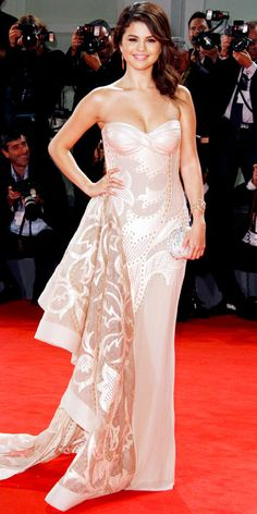 Selena Gomez in Atelier Versace at the premiere of Spring Breakers at the Venice Film Festival
