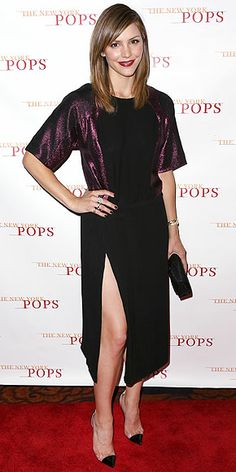 KATHARINE MCPHEE The question of the day: Where did Katharine get the sexy-chic metallic-sleeved black dress she's wearing at the New York Pops Gala in N.Y.C.?