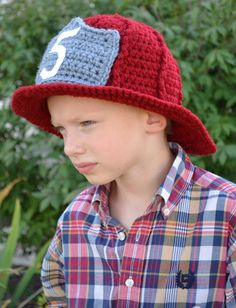 Crochet Fire Fighters Hat