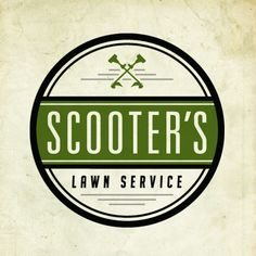 Scooter's Lawn Service Logo by Steve Wolf, via Behance