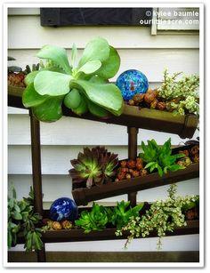 """Our Little Acre: """"The Gutter Planter Redux - Succulent Style!"""""""