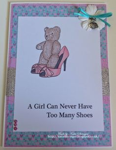 Made by Katie using the I Love Shoes Digital Stamp and Paper Pack