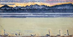 Lake Geneva with Mont Blanc at dawn by Ferdinand Hodler, 1918 Symbolism landscape — Artful for Mac Wall Art Prints, Canvas Prints, Lake Geneva, Art Database, Ferdinand, Colorful Pictures, Natural World, Great Artists, Les Oeuvres