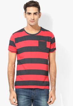 3349a66e Buy Breakbounce Red Solid Round Neck T-Shirt Online - 3719847 - Jabong