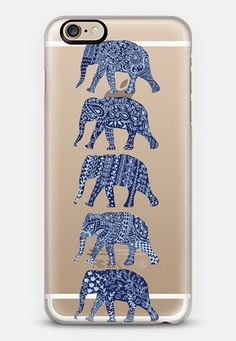 Casetify iPhone 7 Case and Other iPhone Covers - PATTERNED ELEPHANTS(NAVY) by KANIKA MATHUR   #Casetify