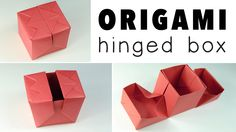 Origami Hinged Box VideoTutorial, Learn how to make a modular origami hinged box, using 3 pieces of square paper, follow along with a video tutorial. Makes a perfect gift box for jewellery!  #hinged #YouTube
