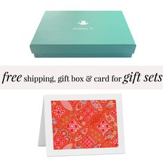 free shipping, gift box and anniversary card with your paper anniversary jewelry