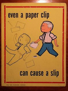 Vintage workplace safety poster late 1950s