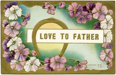 vintage father's day images | ... floral clip art, victorian fathers day image, vintage digital graphics