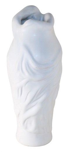Van Briggle Pottery 1990s Cobalt Blue Despondency Vase Ruff Van