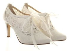 Wedding Boot Heartbeat Ivory Cotton Lace Bride Bridesmaid Hassell Collection #LaceupBootie