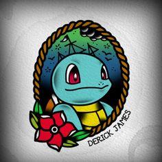 #tattooflash #pokemon #watercolor #art #traditional #sailor #drrickjames #cartoon #illustration