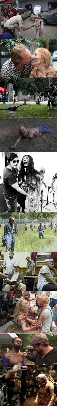 Behind The Scenes Of The Walking Dead pics