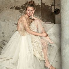 Rara Avis's Floral Paradise bridal collection is inspired by the delightful image of flowering magnolia trees against a perfect blue sky. Featuring