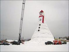 Tallest snowwoman in Bethel, Maine.