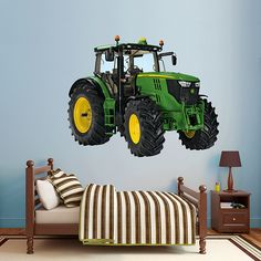 John Deere 6210R Tractor REAL.BIG. Fathead Wall Decal. Easy way to decorate an unforgettable bedroom, playroom, or nursery!