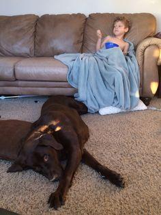 Ace and Bosephus the dog.