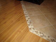 Tile hardwood transition