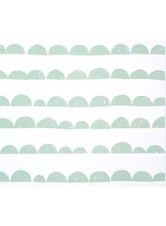 'Half Moon Wallpaper by Ferm Living. Moon Wallpaper, Ferm Living Wallpaper, Wallpaper Paste, Paper Wallpaper, White Wallpaper, Cute Images For Wallpaper, Cute Wallpapers, Bath Girls, Mint