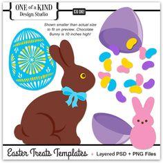 Easter Treats Layered Templates | CU/Commercial Use #digital #scrapbook design tools at CUDigitals.com #digitalscrapbooking
