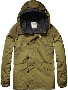 Hooded Parka Jacket | Jackets | Men's Clothing at Scotch & Soda