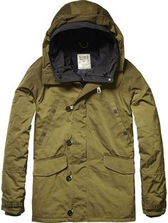 Hooded Parka Jacket | Jackets | Men's Clothing at Scotch & Soda