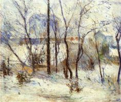 """Garden under Snow"" by Paul Gauguin (1879) Museum of Fine Arts, Budapest, Hungary"