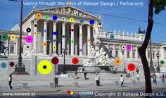 Parlament Wien, Parliament Vienna in Dots Design / Photo © Kekeye Design e. Dots Design, Vienna, Photos, Street View, Eyes, City, Pictures, Cake Smash Pictures