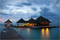 CLUB MED KANI | MALDIVES.  I don't know where Maldives is, but this place looks incredible.  I can picture myself there.  WOW!
