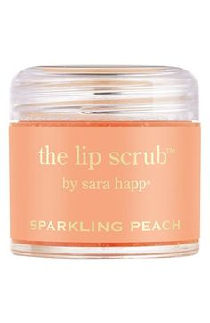 Sparkling peach lip scrub? Yes, please!
