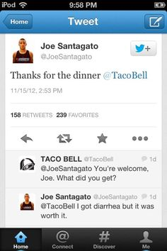 Funny Taco Bell Tweets. I can't. Hahahahaha what a struggle