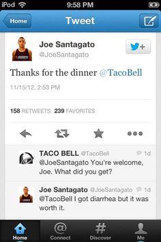 Funny Taco Bell Tweets. I can't. Hahahahaha what a struggle