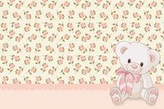 Kit para imprimir feminino - Floral com ursinhos - Dicas pra Mamãe: