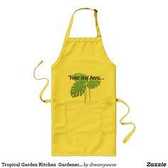 Tropical Garden Kitchen  Gardener Florist Apron
