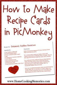 Recipe Index Card Template Lovely How to Make Recipe Cards In Picmonkey Home Cooking Memories Toffee Cookie Recipe, Toffee Cookies, Family Recipe Book, Recipe Books, Family Recipes, Blogging, Printable Recipe Cards, Recipe Printables, Recipe Book Templates