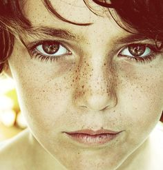 "500px / Photo ""Carrete-323"" by raquel lopez-chicheri  Photography, boy, kid, freckles, freckled, summer, portrait, eyes,"