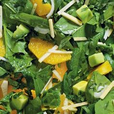 Шпинатный салат с апельсином и репкой