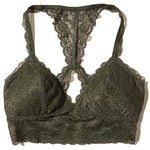 Hollister Lace Racerback Longline Bralette With Removable Pads